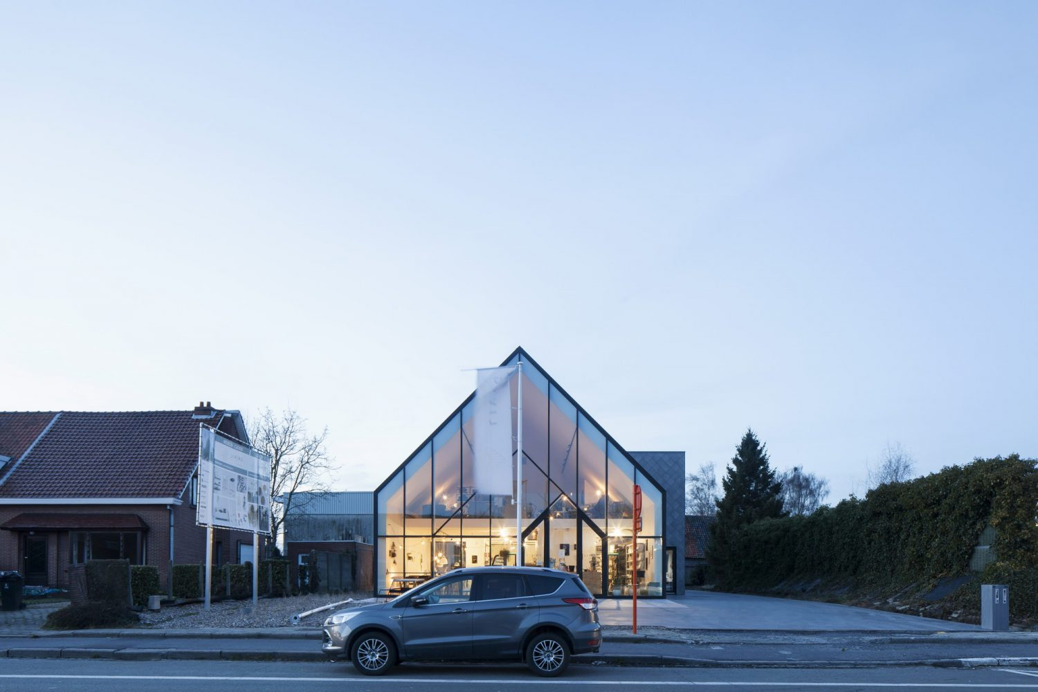 Drongen Furniture Store by WE-S architecten