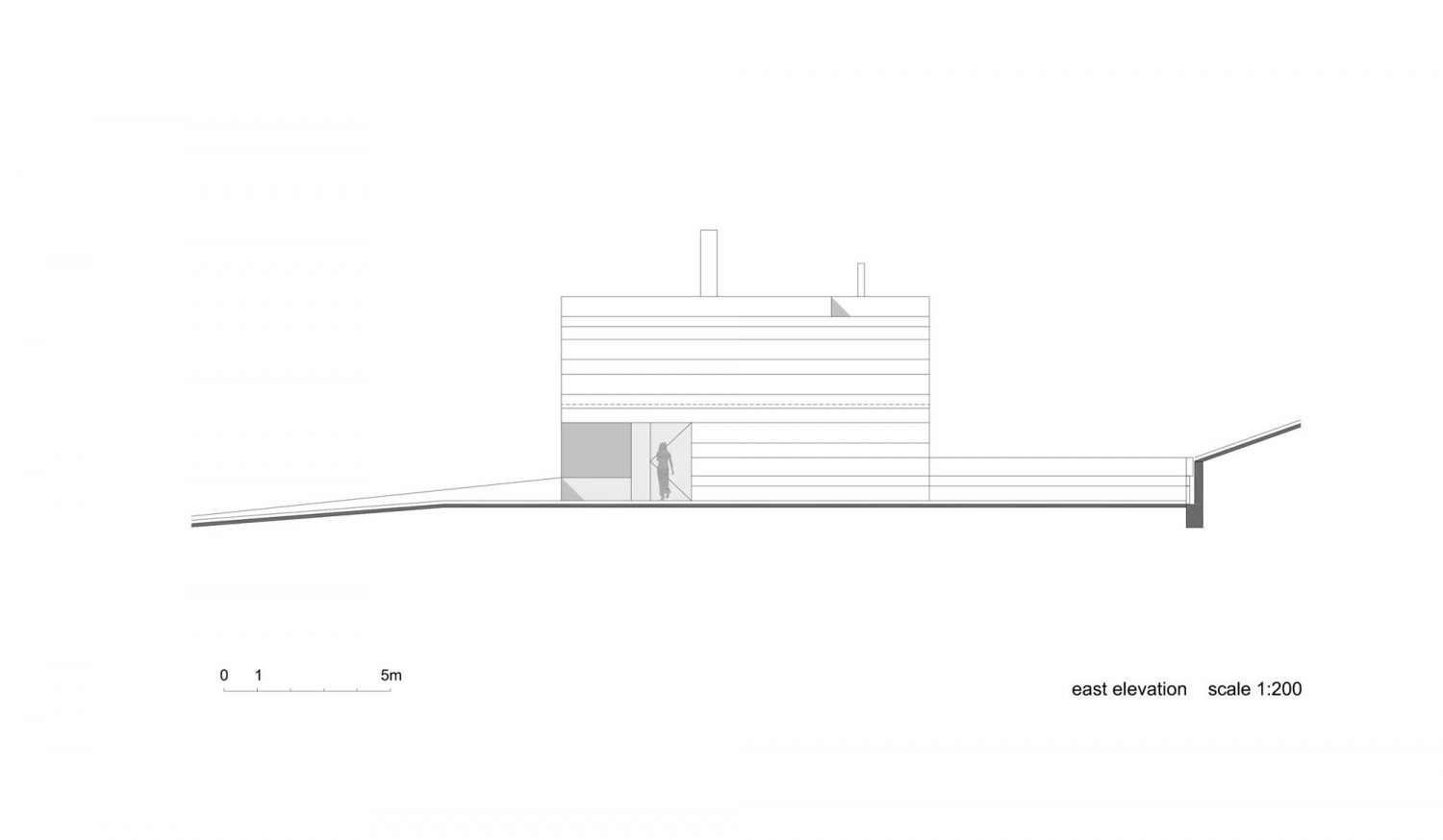 Slight Slope Long House by I/O Architects
