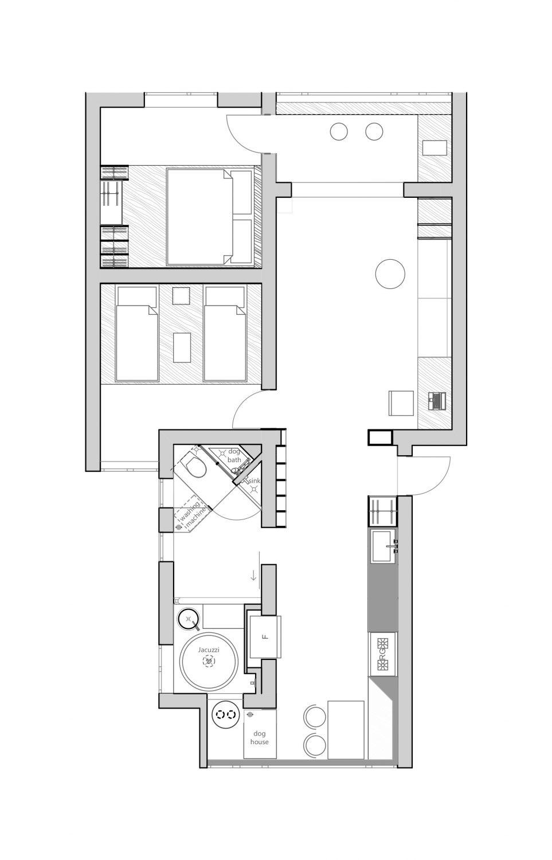 Shuang Gang Road Apartment Renovation by Xue Jin Design