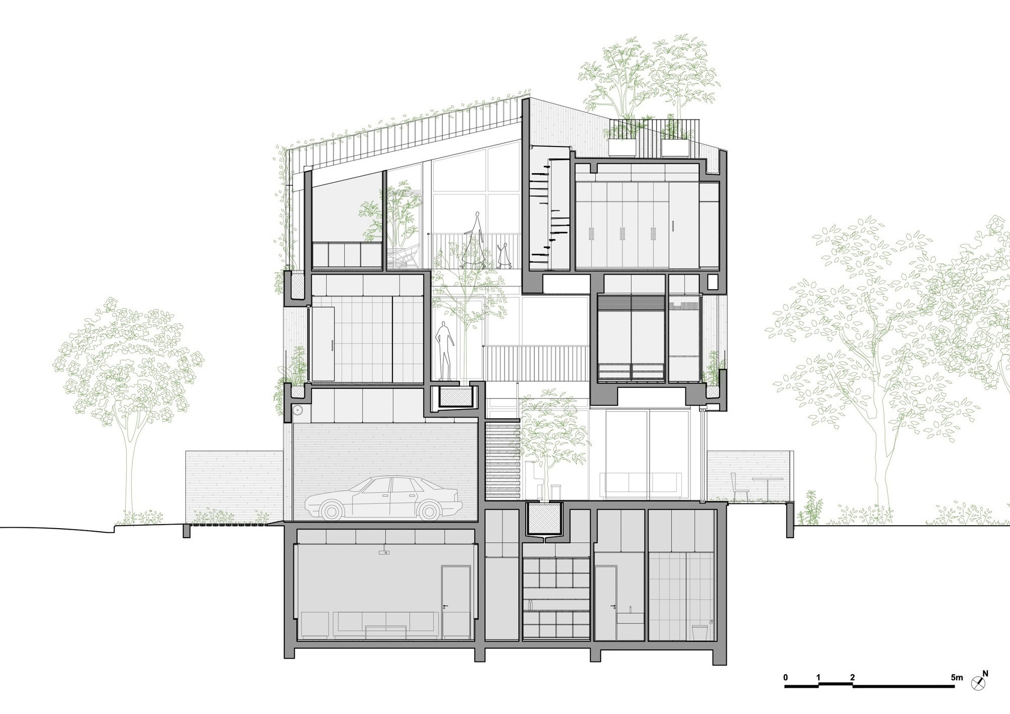 Stepping Park House by Vo Trong Nghia Architects