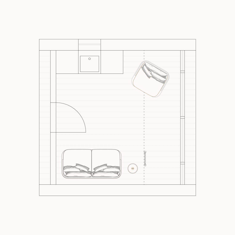 A-Frame Bunk Cabin by Den