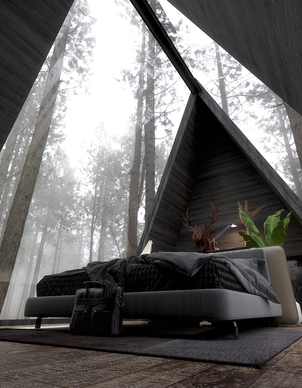 In The Woods | Tiny A-Frame House by Jay Lalka