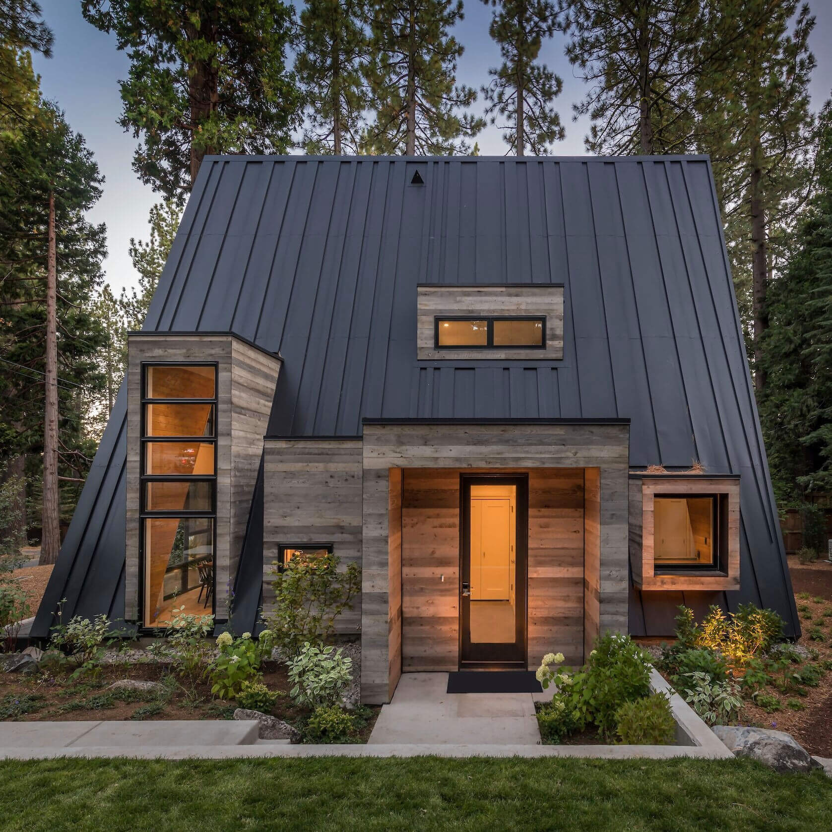 Mountain-Style A-Frame Cabin by Todd Gordon Mather Architect